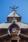 El top de una torre de madera Imágenes de archivo libres de regalías