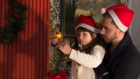 El top del árbol de navidad almacen de video