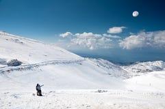 El top del monte Hermón Imágenes de archivo libres de regalías