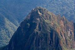 El top del pico de Huayna Picchu Fotos de archivo