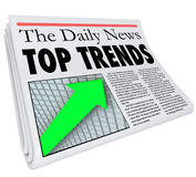 El top tiende el informe Produ popular del artículo de la historia del título de periódico libre illustration
