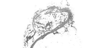 El torbellino del líquido gris le gusta la pintura del coche en el fondo blanco La pintura coloreada hermosa está girando Transpa stock de ilustración