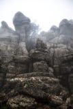 EL Torcal de Antequera στην ομίχλη, Μάλαγα, Ισπανία Στοκ φωτογραφίες με δικαίωμα ελεύθερης χρήσης