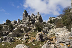 El Torcal de Antequera, Andalucia Royalty Free Stock Images
