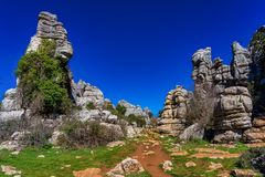 El Torcal de Antequera, Andalusia, Spain, near Antequera, province Malaga. stock image