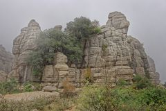 El Torcal de Antequera, rock formations. andalucia stock image