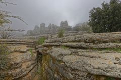 El Torcal de Antequera, rock formations. andalucia stock photography