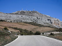El Torcal Massiv from the south Royalty Free Stock Images