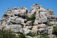 El Torcal National Park Stock Photography