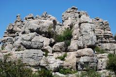 El Torcal National Park. Karst landscape, El Torcal National Park, Torcal de Antequera, Malaga Province, Andalusia, Spain, Western Europe Stock Photography