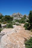 El Torcal National Park, Spain. Royalty Free Stock Photo