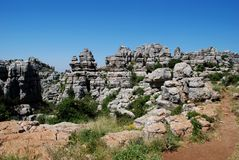 El Torcal National Park, Spain. Stock Photo