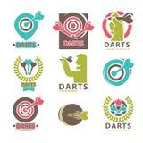 El torneo de los dardos simboliza la colección en blanco libre illustration