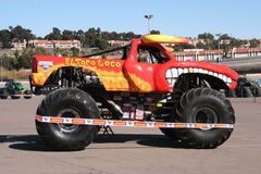 El Toro Loco Monster truck. A popular monster truck, El Toro Loco, is on display before a performance at Qualcomm Stadium in San Diego that took place on January Royalty Free Stock Image