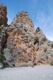 El torrente de Pareis en Majorca Imágenes de archivo libres de regalías