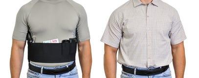 El torso de un hombre se vistió en ropa civil, por debajo la camisa imágenes de archivo libres de regalías
