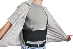 El torso de un hombre se vistió en ropa civil, por debajo la camisa fotos de archivo
