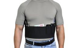 El torso de un hombre se vistió en ropa civil, por debajo la camisa foto de archivo