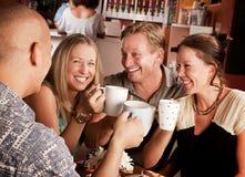 El tostar con las tazas de Coffe Fotos de archivo libres de regalías