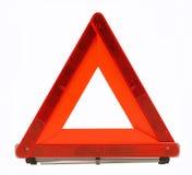 El tráfico amonestador del accidente canta (el triángulo rojo) Foto de archivo