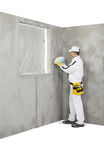 El trabajador que lleva a cabo un color muestrea la paleta Fotografía de archivo libre de regalías