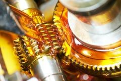 El trabajar a máquina de la rueda de engranaje del diente foto de archivo libre de regalías