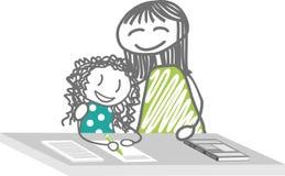 El trabajo casero, curso particular, apoya la escuela Imagen de archivo libre de regalías