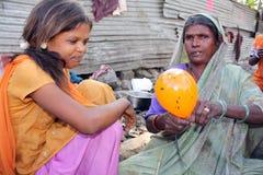 El trabajo de los mendigos Fotos de archivo libres de regalías