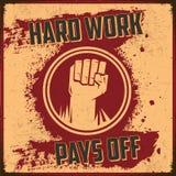 El trabajo duro paga apagado libre illustration