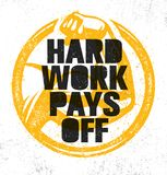 El trabajo duro paga apagado Muestra inspiradora del ejemplo de la cita de la motivación del gimnasio del entrenamiento y de la a ilustración del vector