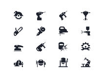 El trabajo eléctrico equipa iconos Serie de Lyra Imagenes de archivo