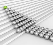 El trabajo en equipo de las esferas muestra la burbuja y la autoridad de la dirección stock de ilustración