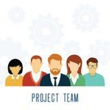 El trabajo en equipo del vector adapta concepto Stock de ilustración