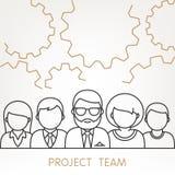 El trabajo en equipo del vector adapta concepto Ilustración del Vector