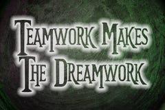 El trabajo en equipo hace el concepto de Dreamwork Fotos de archivo libres de regalías