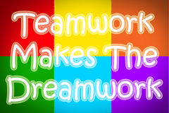 El trabajo en equipo hace el concepto de Dreamwork Fotografía de archivo libre de regalías