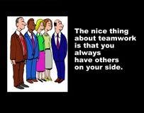 El trabajo en equipo significa otros en su lado libre illustration
