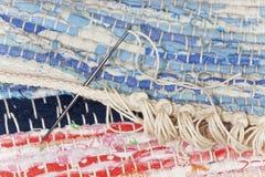 El trabajo final sobre un trapo de la manta Fotos de archivo libres de regalías