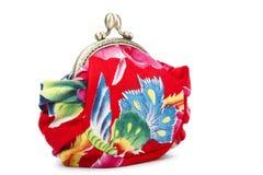 El trabajo hecho a mano hace el bag??purse?? del maquillaje Imagenes de archivo