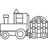 El tractor embroma las figuras geométricas que colorean la página Imagen de archivo libre de regalías