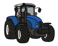 El tractor pesado azul stock de ilustración