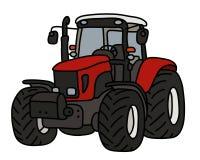 El tractor pesado rojo ilustración del vector