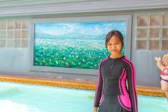 El traje de baño en relaja tiempo Fotos de archivo libres de regalías
