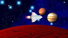 El transbordador espacial imagen de archivo