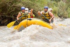 El transportar en balsa de río de Ecuador Whitewater Fotografía de archivo libre de regalías