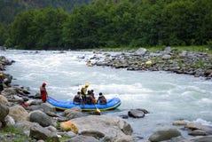 El transportar en balsa del agua blanca Fotografía de archivo