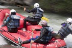 El transportar en balsa del agua blanca Fotografía de archivo libre de regalías