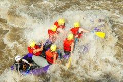 El transportar en balsa del agua blanca Foto de archivo libre de regalías
