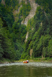 El transportar en balsa del río Foto de archivo