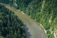 El transportar en balsa del río Imagen de archivo libre de regalías